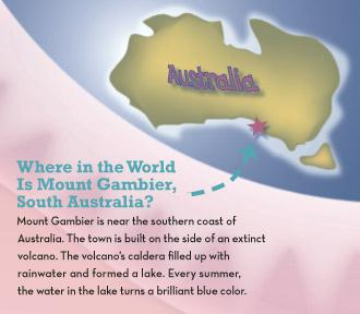 globe showing Australia