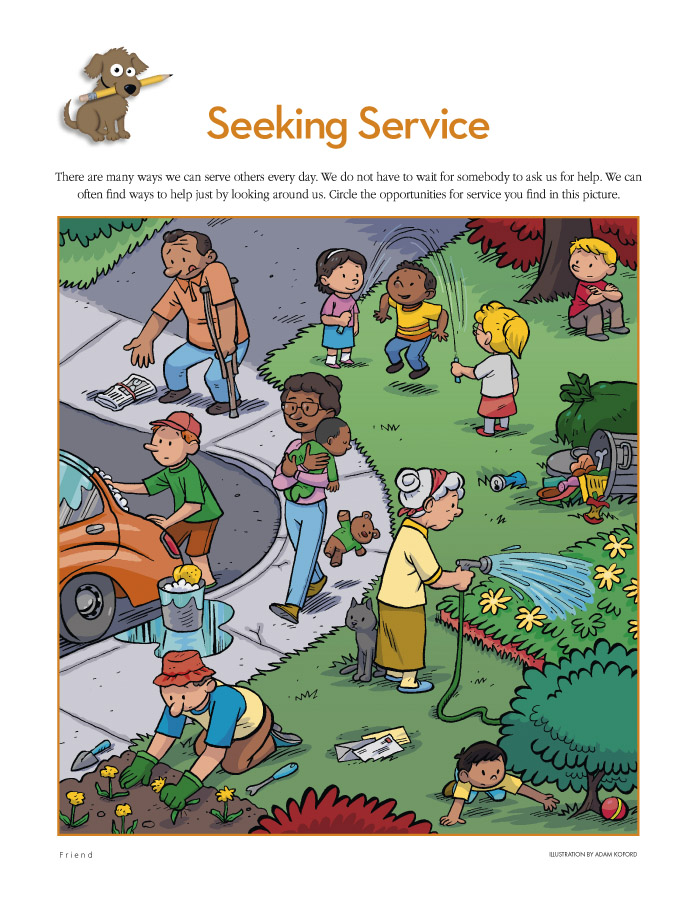 children helping others lds - photo #27