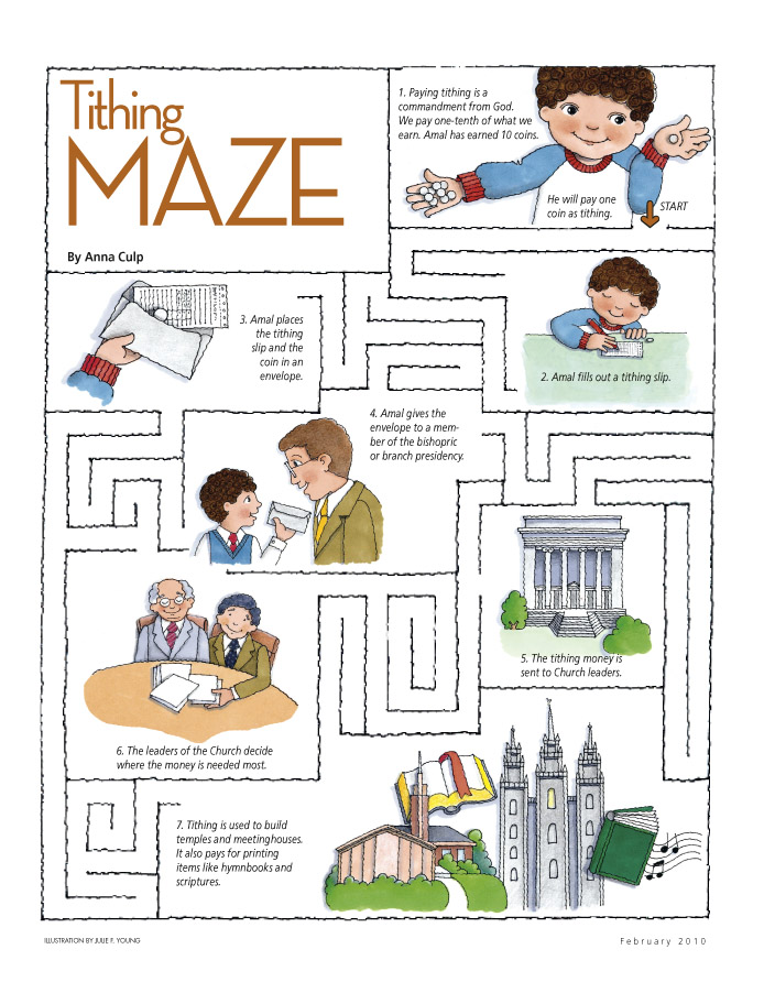 Young Anna Coloring Pages Tithing Maze - friend