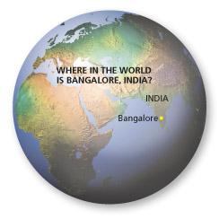globe showing India