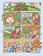 family in the vegetable garden