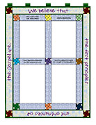 article of faith quilt squares
