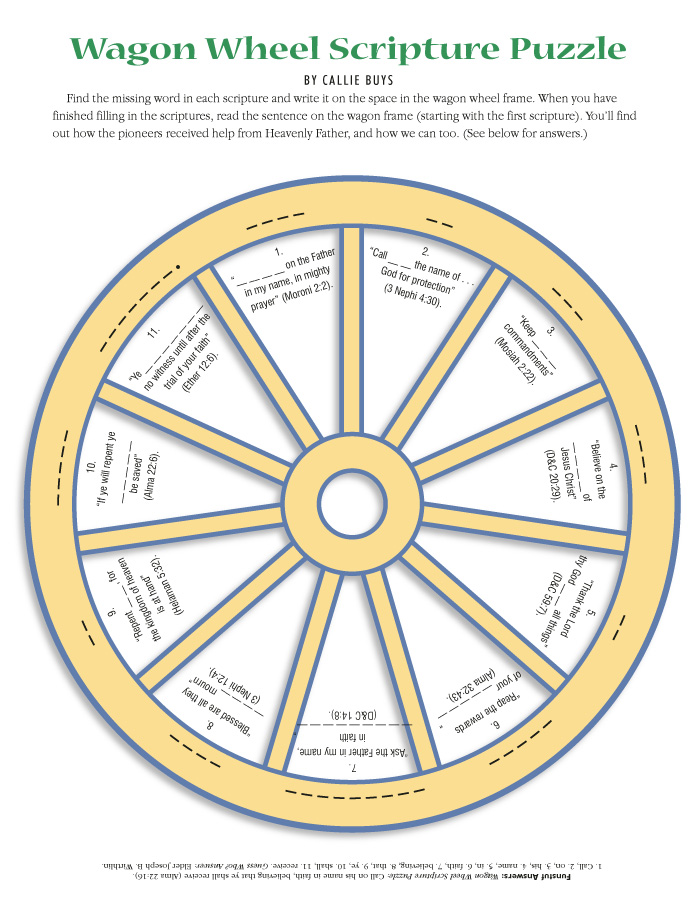 Wagon Wheel Scripture Puzzle