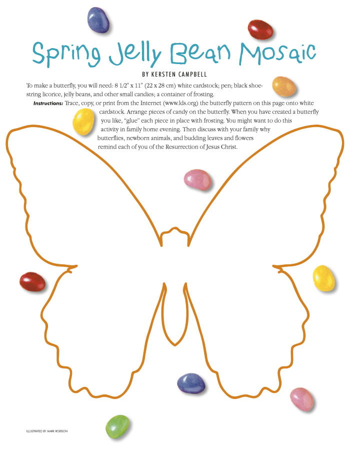 Spring Jelly Bean Mosaic