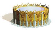 Baptismal font oxen heads