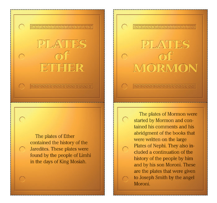 The plates used in the Book of Mormon