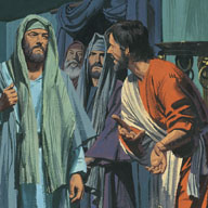 Pharisees heard about Lazarus