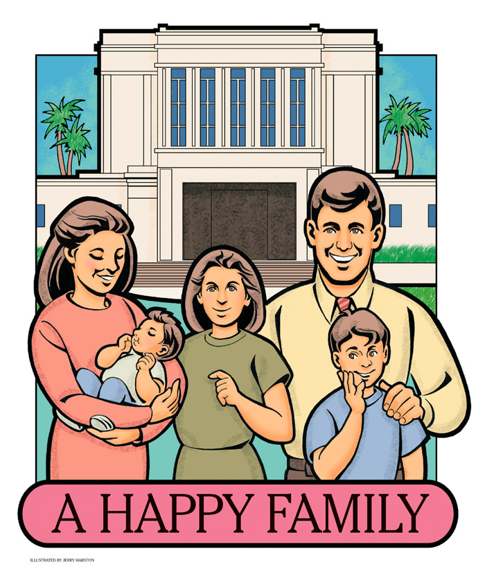 A Happy Family cut out
