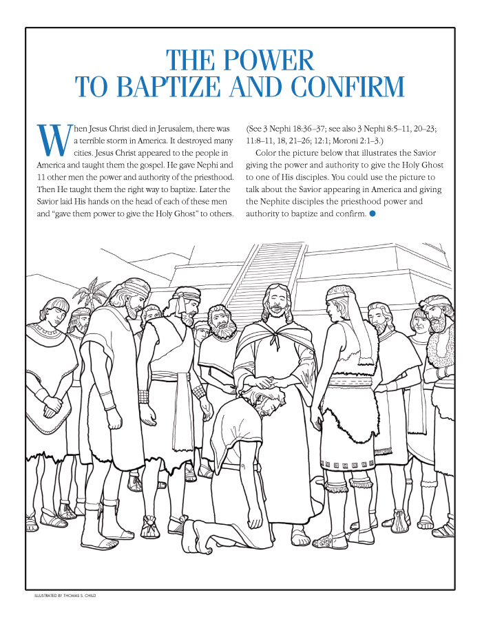 The Power To Baptize And Confirm Jesus Laying Hands On Man