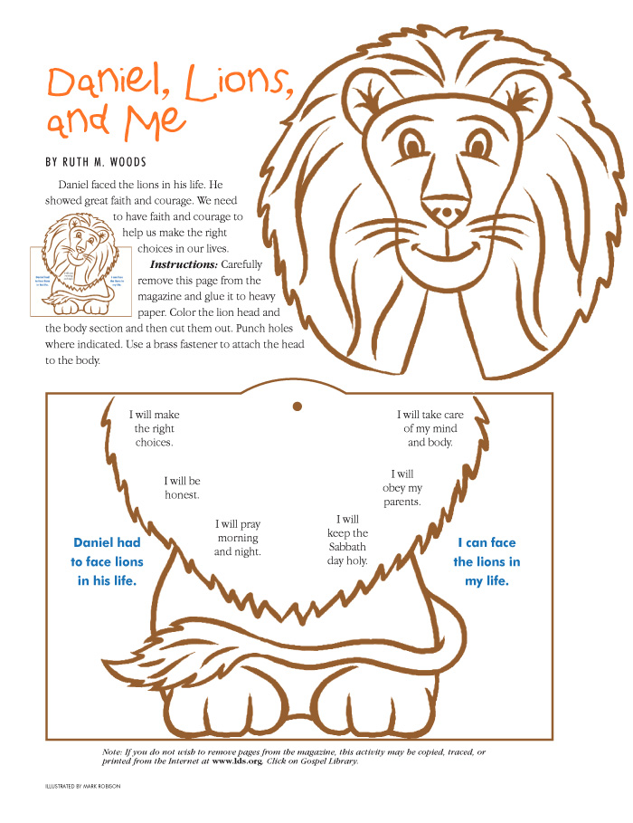 Paper Lion Some Assembly Could Be Used With Story Of Daniel
