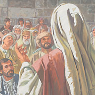 Jesus was meeting with many people