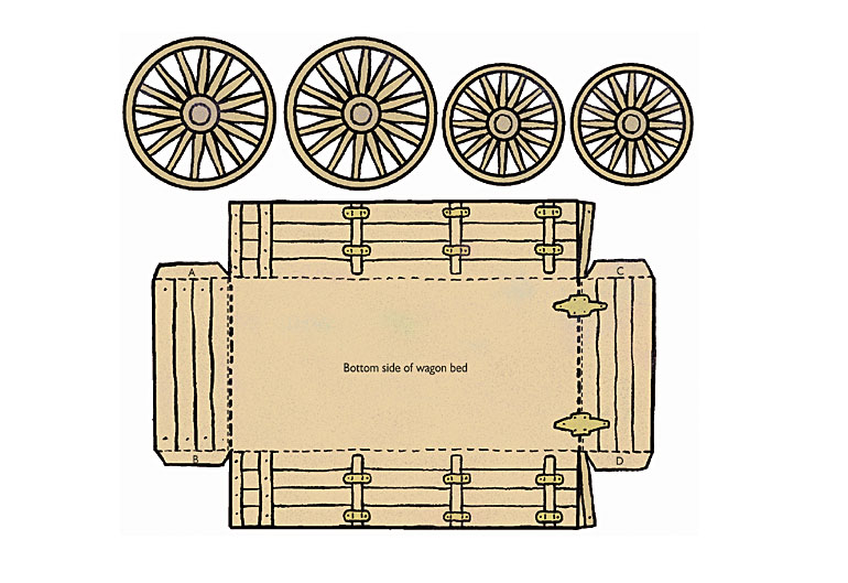 Pioneer Covered Wagon - Friend July 2001 - friend