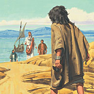The man ran to Jesus