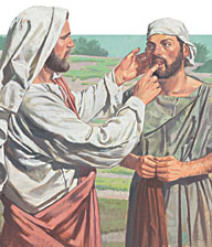 Jesus healed the man