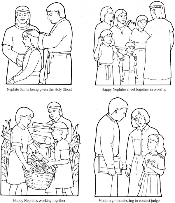 the holy ghost helps me coloring page - free choose the right lds coloring pages
