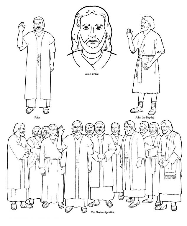 Special witnesses friend for 12 disciples coloring page