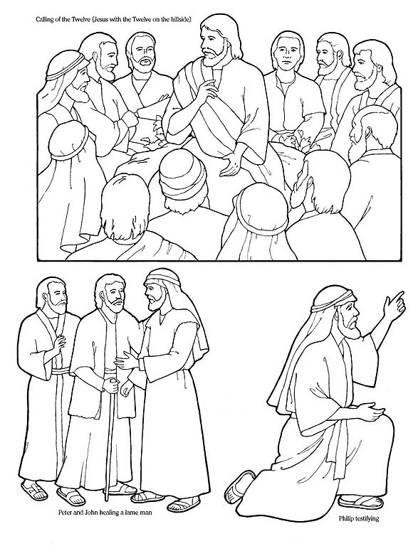 Peter and john heal a lame man coloring page coloring pages for Peter and john heal the lame man coloring page