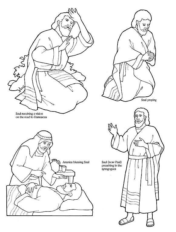 coloring pages apostle paul - photo#7