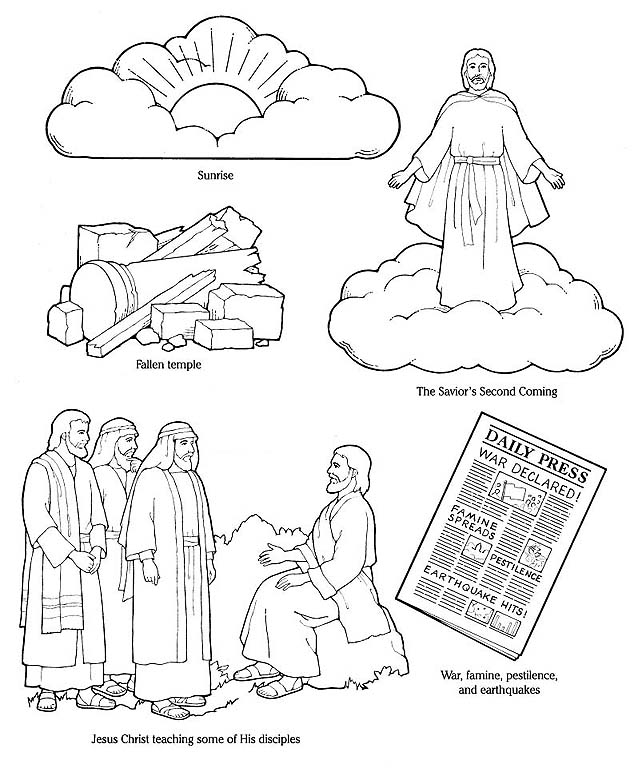 return of jesus coloring pages - photo#18