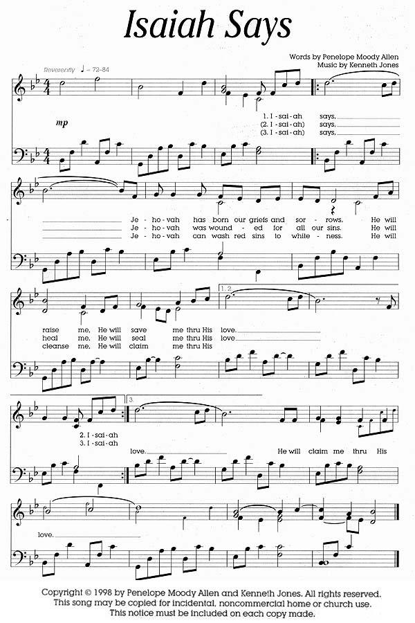 Music, Isaiah Says