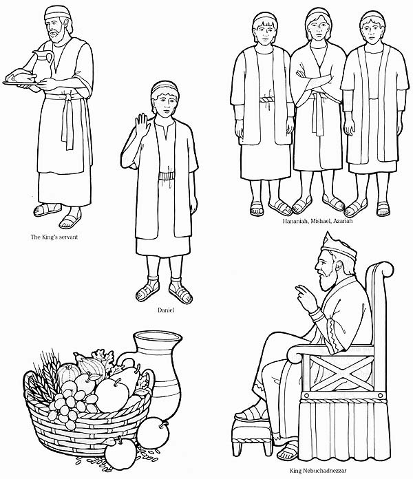 Holiday Coloring Pages Naaman Page Daniel Obeys The Lord