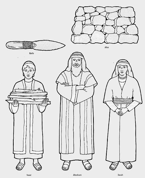 abraham sarah isaac coloring pages - photo#28