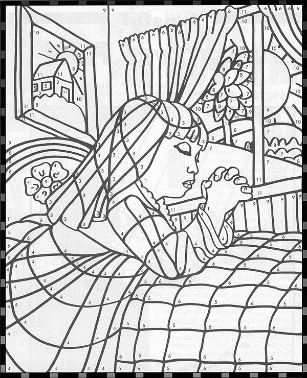 coloring pages about prayer - prayer friend