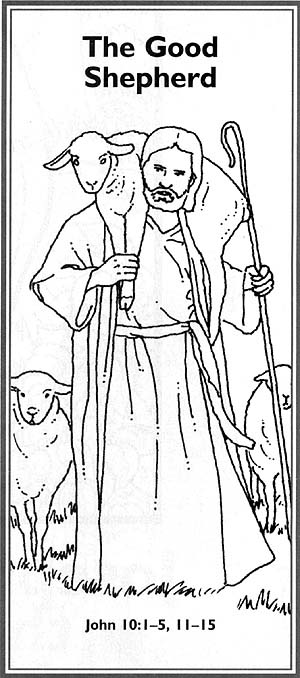 Jesus The Good Shepherd Coloring Page