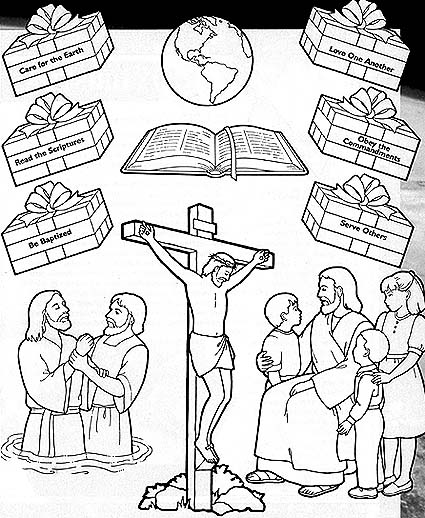 Love One Another Coloring Page. lds coloring pages 2017 2009 ...