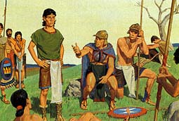 Lamanites were defeating Nephites