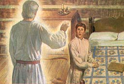 Moroni appeared and told Joseph about the gold plates