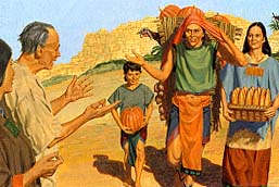 The Nephites began to obey all the commandments