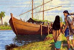Nephites sailed northward