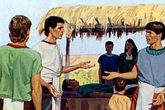 The judges who had been in Nephi's garden wondered where the five were