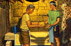 Helaman gave records to Nephi