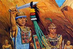 Lamanites told to give up their weapons and promise not to fight