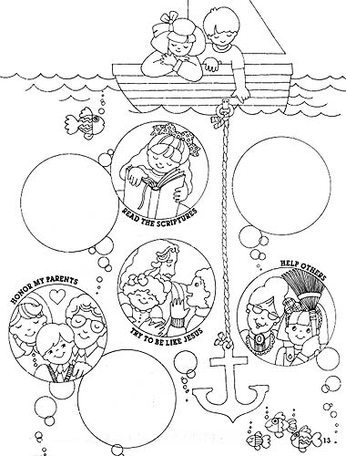 a friend loves at all times coloring page - sharing time keep the commandments friend apr 1994