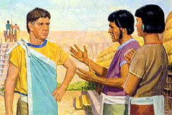 When Nephites attacked, people of Ammon wanted to fight
