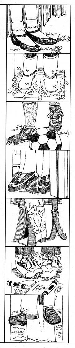 Many feet