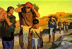 The Zoramites who believed were thrown out of the city