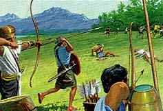 Nephites defeat Lamanites and Amlicites