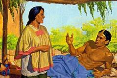 The next day Lamoni said he had seen Jesus