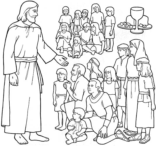 people following jesus coloring pages - photo#15