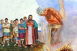 Abinadi burned to death