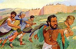 Lamanites attack Nephites