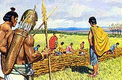 Nephites pay taxes to Lamanites
