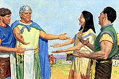 Ammon and people of Limhi return to Zarahemla