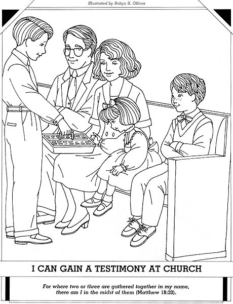 Lds sacrament coloring pages for I can be a friend coloring page