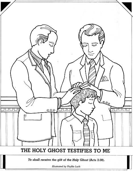 Lds Holy Ghost Coloring Page