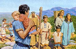 Nephi leads righteous into new land